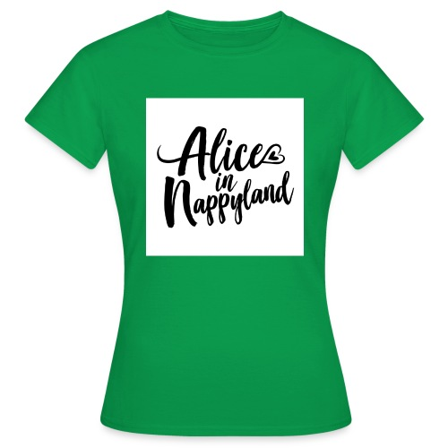 Alice in Nappyland Typography Black 1080 1 - Women's T-Shirt