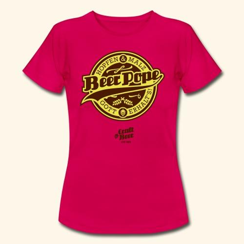 Beer Pope, bicolor - Frauen T-Shirt