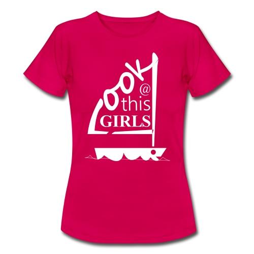 AndriesBik look thisGIRLS shirt witteletters - Vrouwen T-shirt