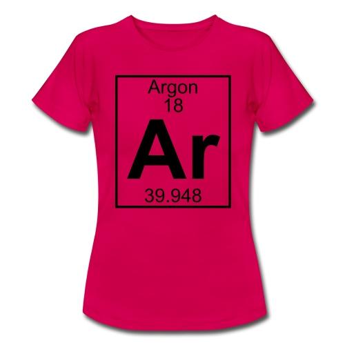 Argon (Ar) (element 18) - Women's T-Shirt