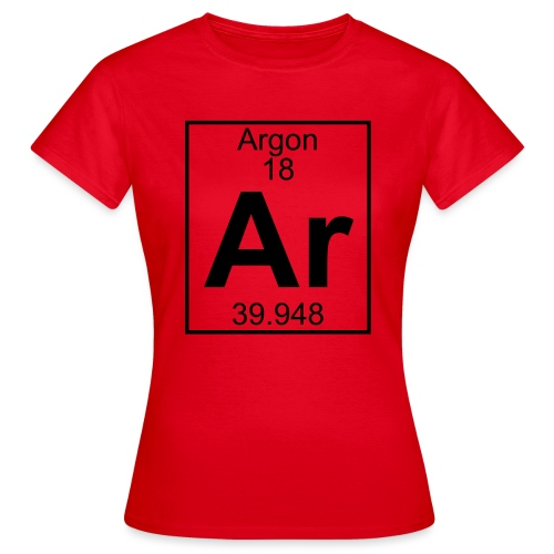 Argon (Ar) (element 18) - Women's T-Shirt