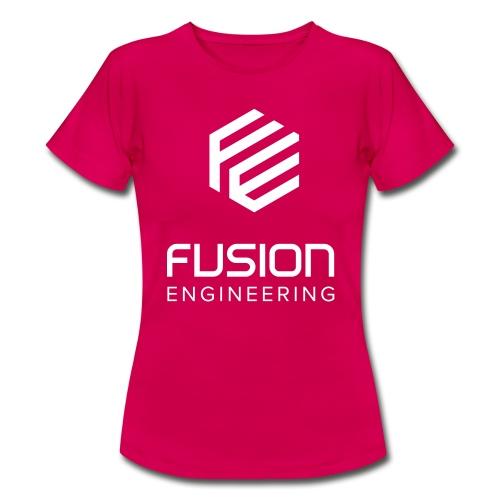 Fusion logo in white - Vrouwen T-shirt