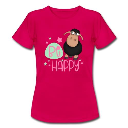 Schwarzes Schaf - be happy Schaf Glückliches Schaf - Frauen T-Shirt