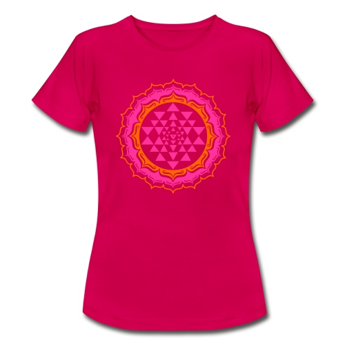 Sri Yantra - pink & orange - Dame-T-shirt