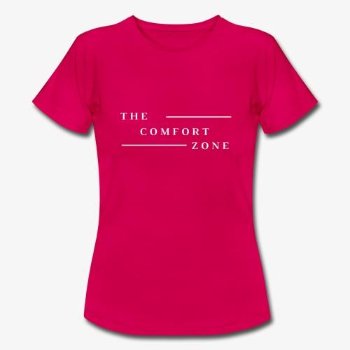 Logo wit The Comfort Zone - Vrouwen T-shirt
