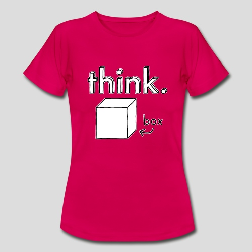 Think Outside The Box Illustration - Women's T-Shirt