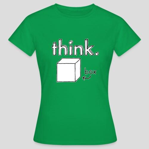 Think Outside The Box Illustration - Women's T-Shirt