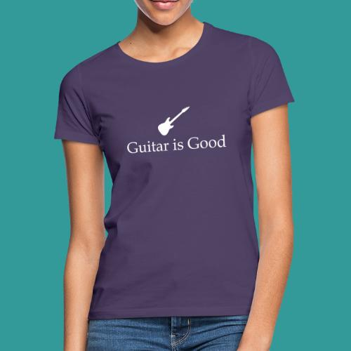 Guitar is Good Logo With Text - Women's T-Shirt