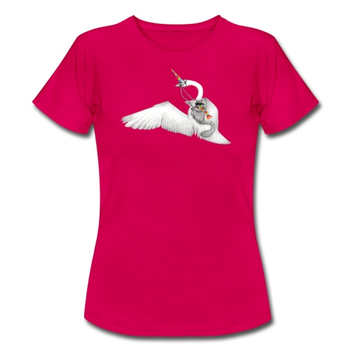 Badass Squirrel and his Uni-Swan - Women's T-Shirt