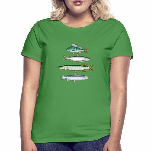 FOUR FISH - Ahven, siika, hauki ja taimen tuotteet - Naisten t-paita