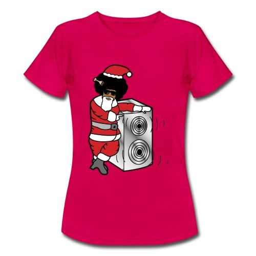 Afro Santa w/ Music Speaker - Women's T-Shirt