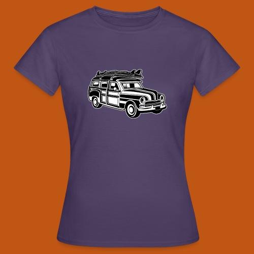 Chevy Cadilac Woodie / Oldtimer Kombi 01_sw - Frauen T-Shirt