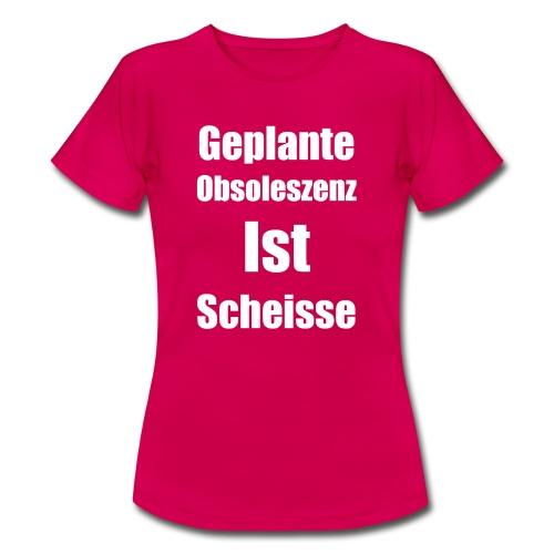 Obsoleszenz Weiss Schwarz - Frauen T-Shirt
