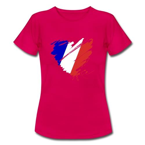 Herz Cœur France Frankreich Grande Nation Rotwein - Women's T-Shirt