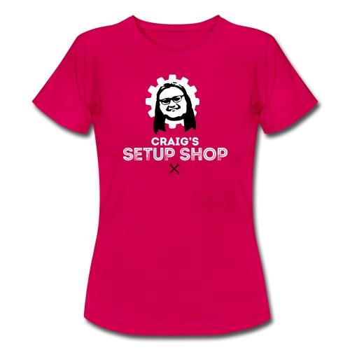 Craigs Setup Shop on Red - Women's T-Shirt