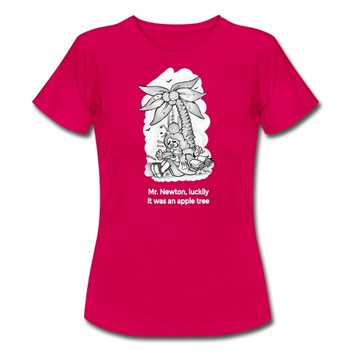 Mr newton, luckily it was an apple tree (whithe) - Camiseta mujer