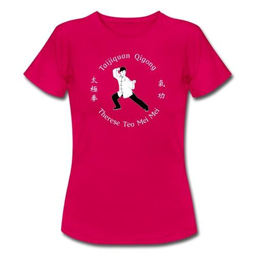 Teo Mei Mei White Logo - T-shirt dam