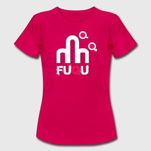 T-shirt FUQU logo colore bianco - Maglietta da donna