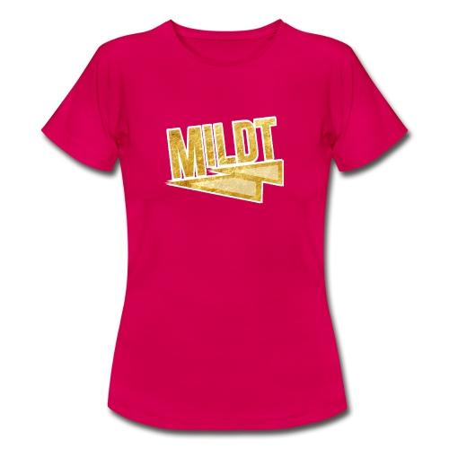 MILDT Gouden Vrouwen Shirt - Vrouwen T-shirt