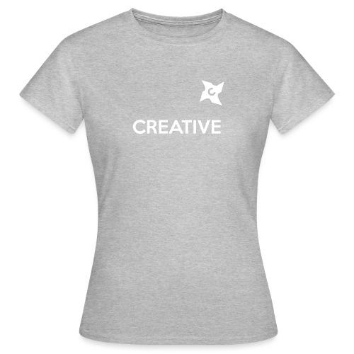 Creative simple black and white shirt - Dame-T-shirt