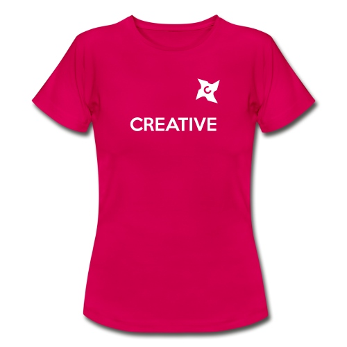 Creative simple black and white shirt - Dame-T-shirt