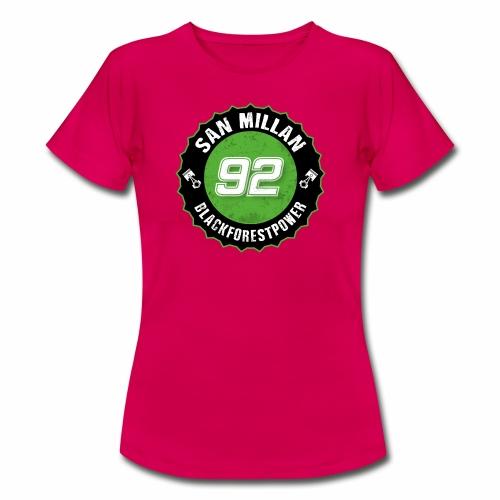 San Millan Blackforestpower 92 rund - schwarz - Frauen T-Shirt