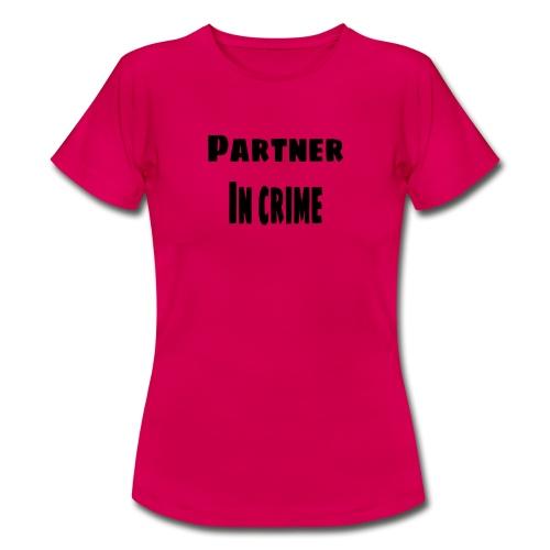 Partner in crime black - T-shirt dam