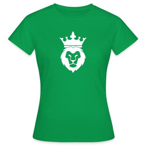Lion_Logo_with_Crown_St--rre_bild_-white- - T-shirt dam