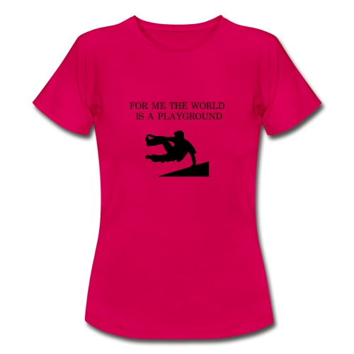 THE WORLD IS A PLAYGROUND - T-shirt dam