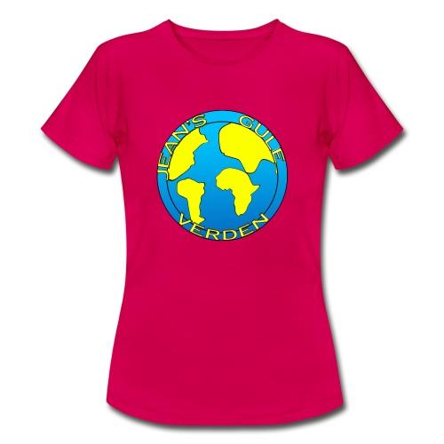 jean's gule verden logo earth - T-skjorte for kvinner