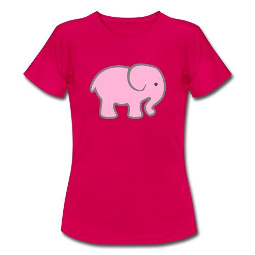Pinker Elefant - Frauen T-Shirt