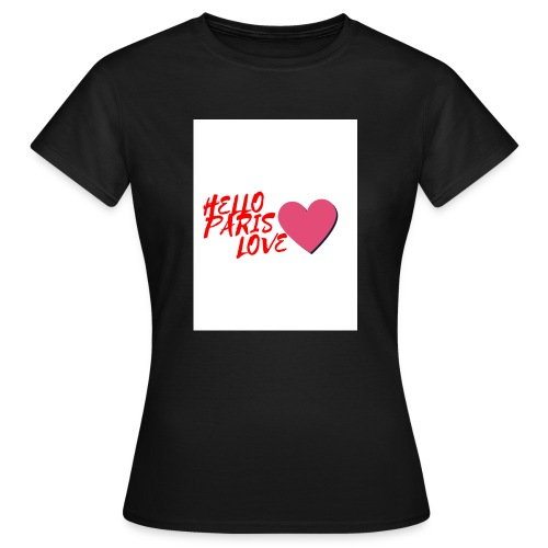 hello paris love rouge - T-shirt Femme