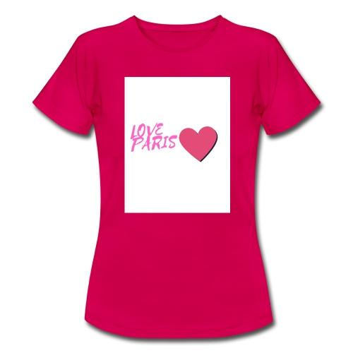 love paris rose - T-shirt Femme