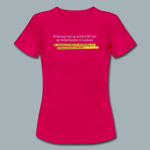 Nederlandse Grondwet T-Shirt - Artikel 90 - Vrouwen T-shirt