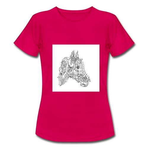 Blumenpferd - Frauen T-Shirt