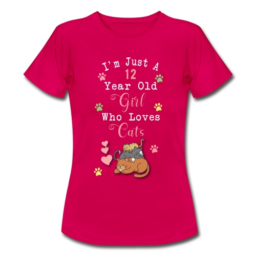 I'm just a 12 year old girl who loves cats - T-shirt Femme