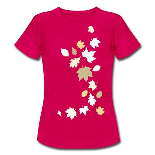 Herbstlaub maple leaf Ahorn Eiche Silhouette - Women's T-Shirt