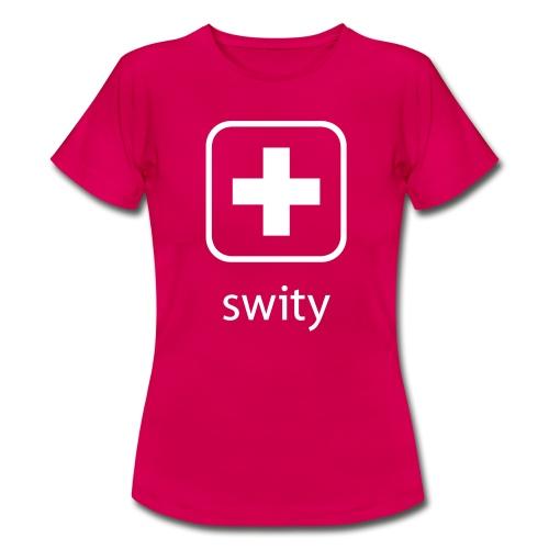 Schweizerkreuz-Kappe (swity) - Frauen T-Shirt