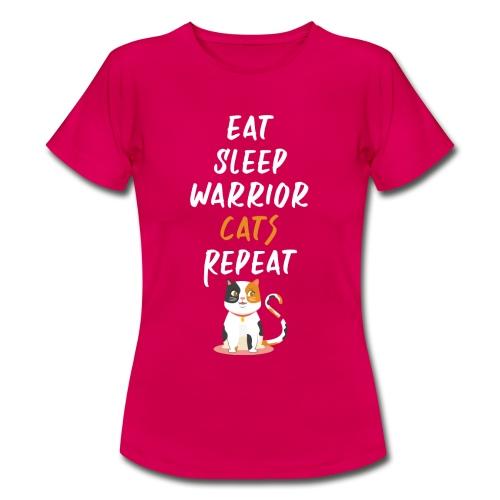 Eat sleep warrior cats repeat - T-shirt Femme