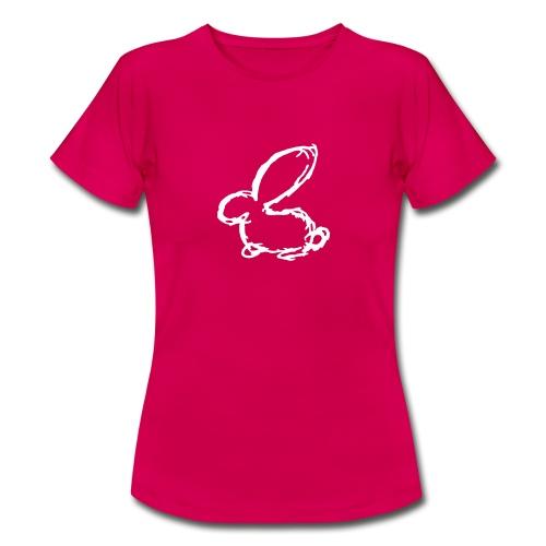 HASE KANINCHEN HÄSCHEN BUNNY SKIZZE ZEICHNUNG - Frauen T-Shirt