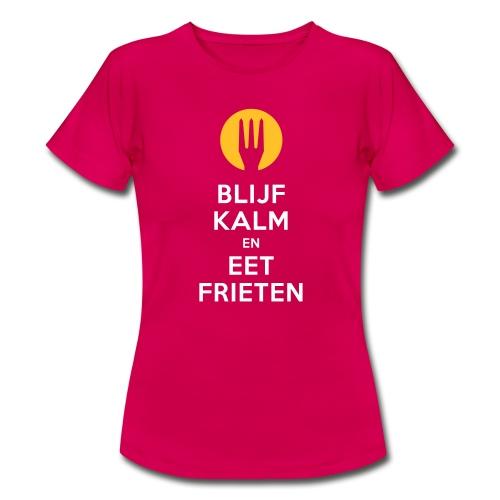 keep calm en eet frieten - T-shirt Femme