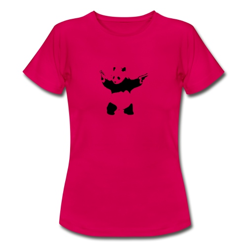 oso panda pistolas - Camiseta mujer