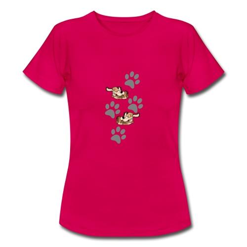 2 liegende Hunde - Frauen T-Shirt