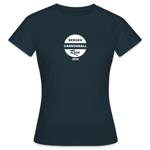 Bergen Cannonball Run 2019 - T-skjorte for kvinner