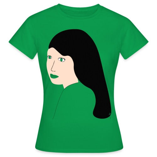 Girl with black hair - Dame-T-shirt
