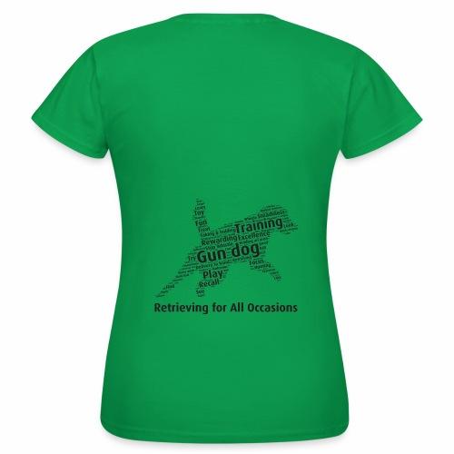 Retrieving for All Occasions wordcloud svart - T-shirt dam