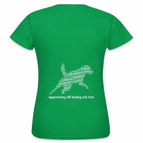 Apportering till vardag och fest wordcloud vitt - T-shirt dam