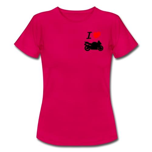 I LOVE MOTO - T-shirt Femme