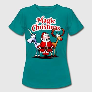 Magia Świąt z jednorożcem - Koszulka damska