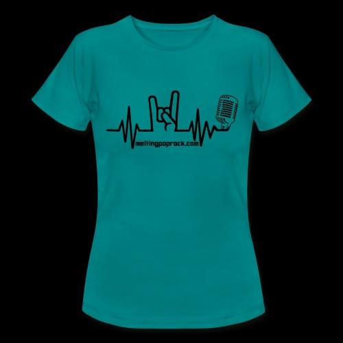 Logo + site noir - T-shirt Femme